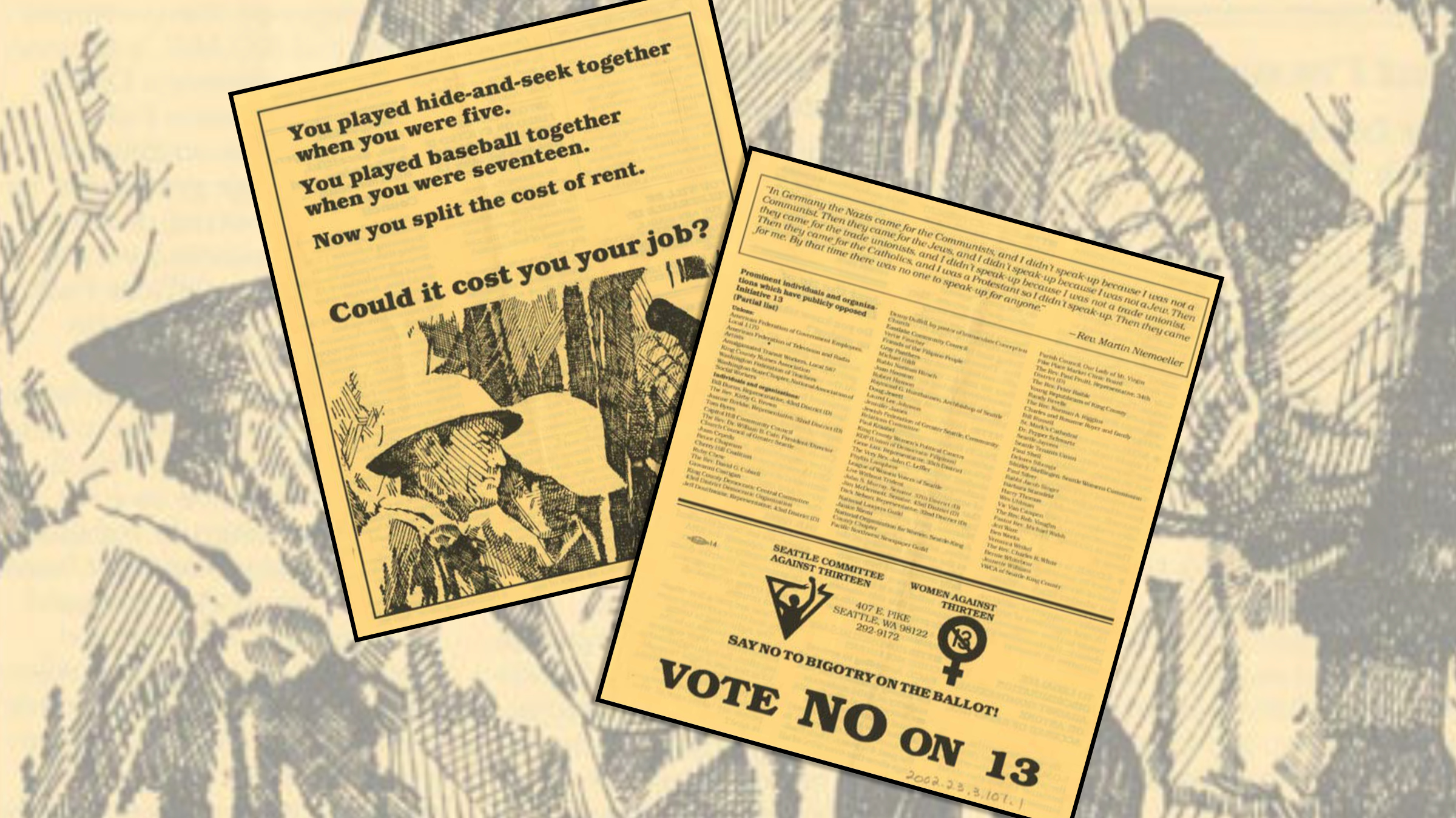 History Café: Revisiting Initiative 13 And LGBT Activism In The 70s