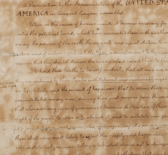 Editing the Declaration of Independence